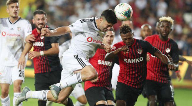 Beşiktaş, Gaziantep FK deplasmanından 3-1 mağlup ayrıldı