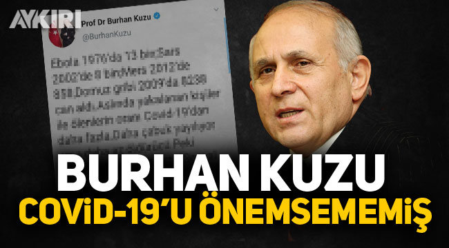 Burhan Kuzu, Covid-19'u önemsememiş!