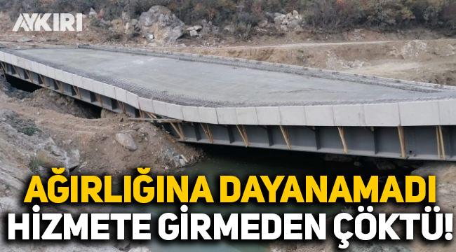 Çalköy Köprüsü hizmete girmeden çöktü!