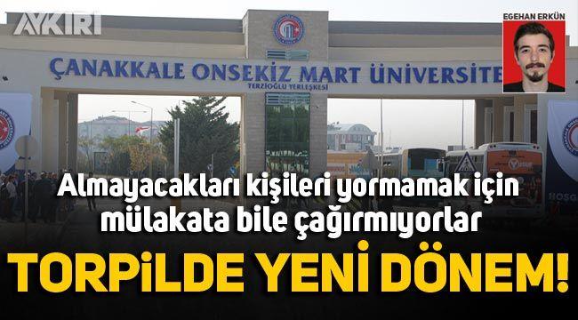 Çanakkale 18 Mart Üniversitesi memur alımında usulsüzlük iddiası!
