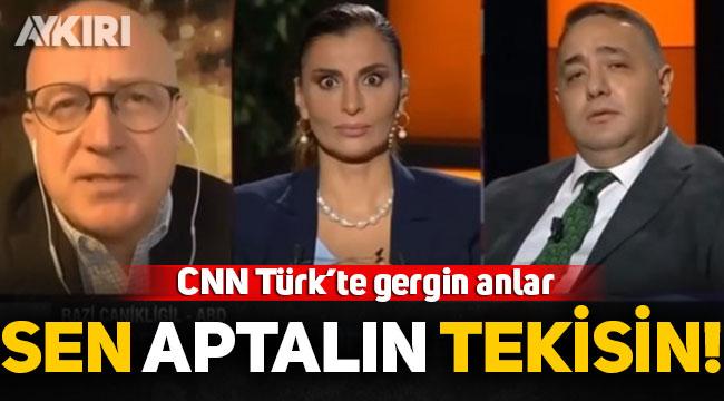 """CNN Türk canlı yayınında gergin anlar: Razi Canikligil, Zafer Şahin'e """"Sen aptal adamın tekisin"""" dedi, yayını terk etti!"""
