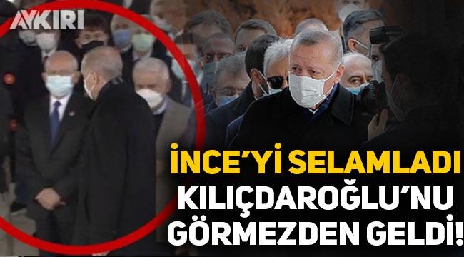 Cumhurbaşkanı Erdoğan, Muharrem İnce'yi selamladı, Kemal Kılıçdaroğlu'nu görmezden geldi