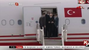 Erdoğan ve Bahçeli Kıbrıs'a ayrı uçaklarla gitmiş