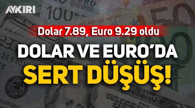 Döviz kurlarında ani düşüş: Dolar 7.89, Euro 9.30 oldu!