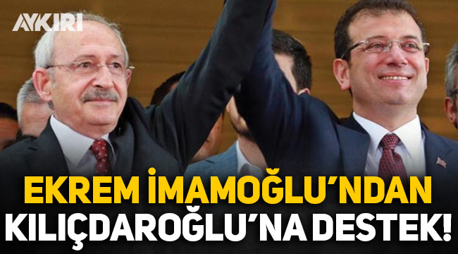 Ekrem İmamoğlu'ndan Alaattin Çakıcı tarafından tehdit edilen Kemal Kılıçdaroğlu'na destek!