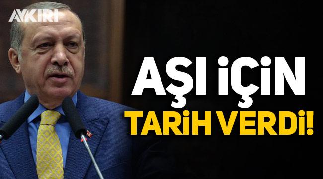 Erdoğan koronavirüs aşısı için tarih verdi!