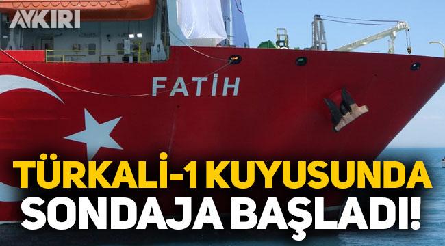 Fatih, Türkali-1 kuyusunda sondaja başladı!