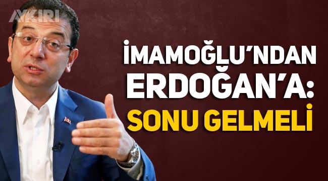 """İmamoğlu'ndan Erdoğan'a """"Kanal İstanbul yanıtı: Sonu geldi ama projenin sonu gelmeli"""""""