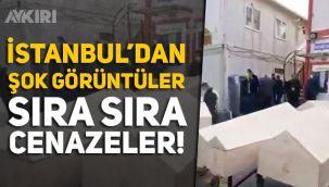 İstanbul Küçükçekmece'deki gasilhane önüne çekilen görüntüler korku şoke etti
