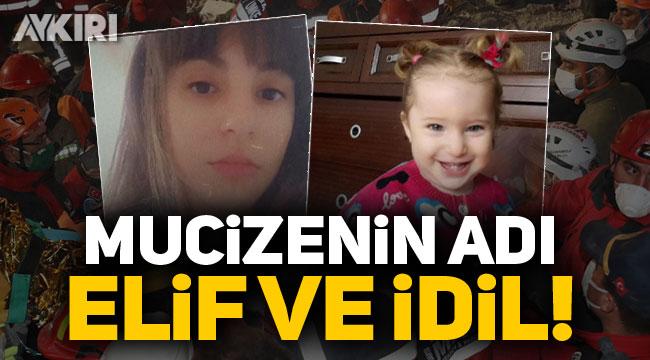 İzmir'de mucizenin adı: Elif ve İdil! Saatler sonra enkaz altından kurtarıldılar...