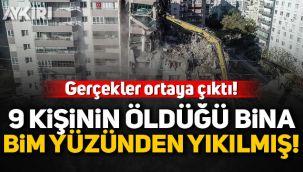 İzmir'de 9 kişinin öldüğü Yılmaz Erbek apartmanı BİM yüzünden yıkılmış!