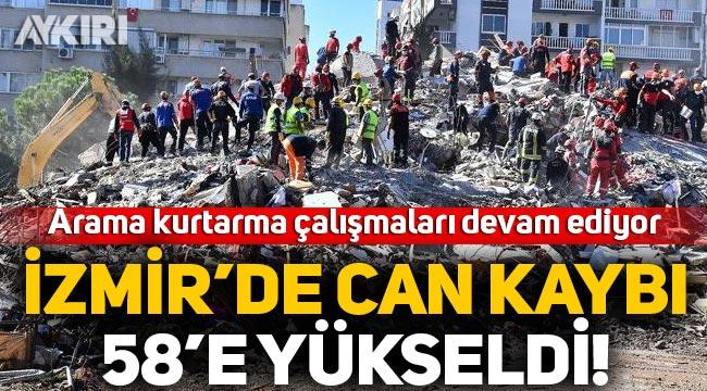 İzmir depreminde hayatını kaybedenlerin sayısı 58'e yükseldi, yüzlerce yaralı!