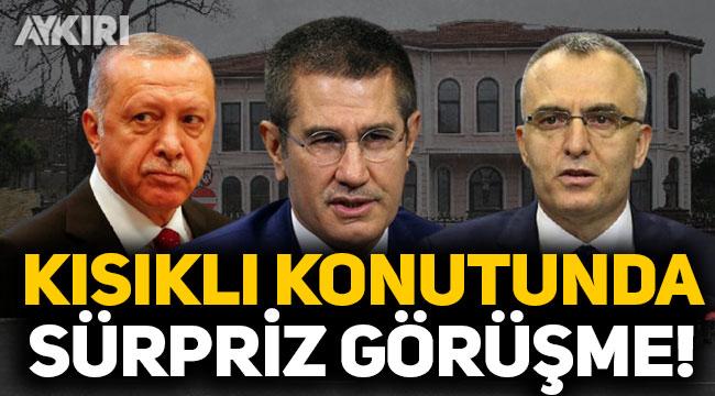 Kısıklı'da sürpriz zirve: Cumhurbaşkanı Erdoğan, Nurettin Canikli ve Naci Ağbal ile görüştü!
