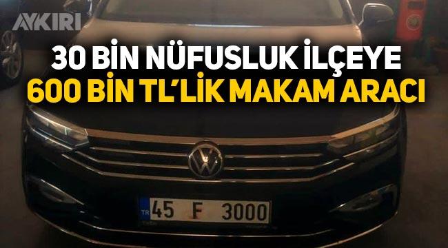 Manisa Kırkağaç belediye başkanına 600 bin liralık makam aracı