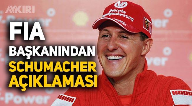 Michael Schumacher'in son durumunu FIA başkanı açıkladı
