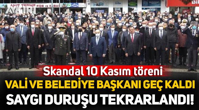 Samsun'da skandal 10 Kasım töreni: Vali geç kaldı, AK Partili Başkan son anda yetişti!
