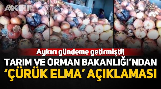 """Tarım ve Orman Bakanlığı'ndan 'Çürük elma' açıklaması: """"Yasal işlemler başlatıldı"""""""