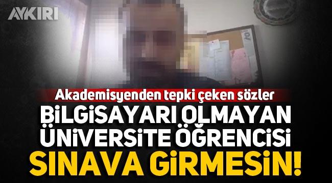 Trakya Üniversitesi akademisyeninden tepki çeken sözler!