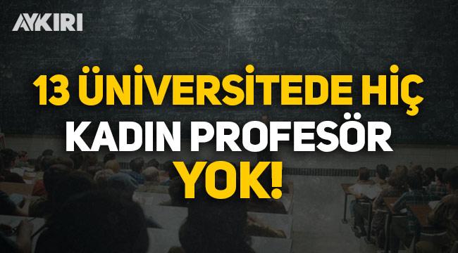 Türkiye'de 13 üniversitede hiç kadın profesör yok!