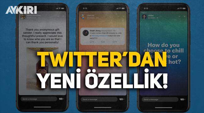 Twitter'dan 'hikaye' özelliği: Tweetler 24 saat sonra silinecek!