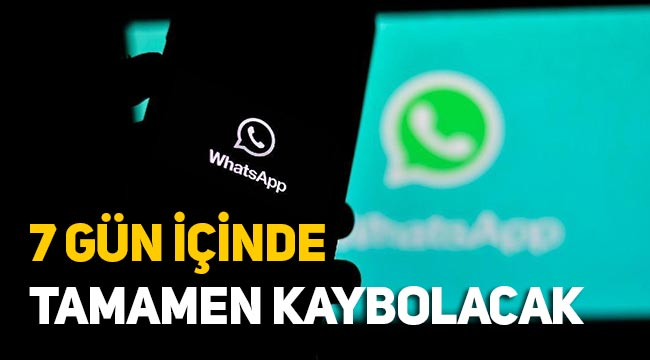 Whatsapp'a yeni özellik, 7 gün içinde kaybolacak