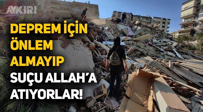 """Yeneroğlu: """"Deprem için önlem almayıp, suçu Allah'a atıyorlar"""""""