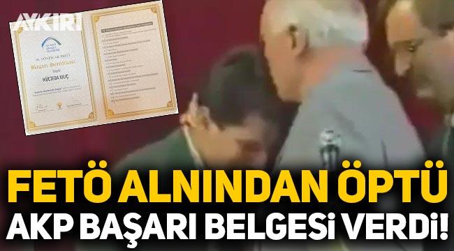 AK Parti, FETÖ'nün alnından öptüğü FETÖ'cüye Erdoğan imzalı başarı belgesi verdi!
