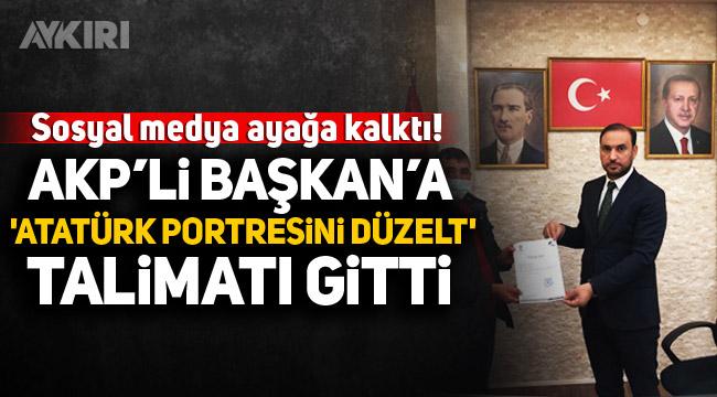 AKP Mamak İlçe Başkanlığı'ndan sosyal medyayı ayağa kaldıran Atatürk portresi paylaşımı!