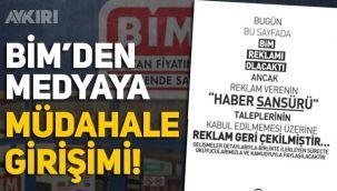 BİM'den ilan karşılığı sansür talebi, Milli Gazete yayınladı