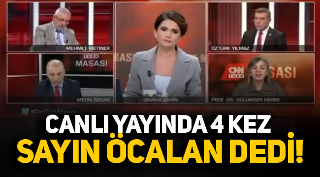 Canlı yayında 4 kez 'Sayın Öcalan' dedi!