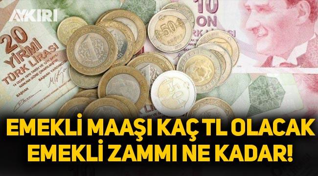 Emekli zammı ne kadar olacak? Emekli maaşı kaç lira olacak? SSK, Bağkur, memur emeklisi maaş zammı kaç TL? 2021 emekli zammı