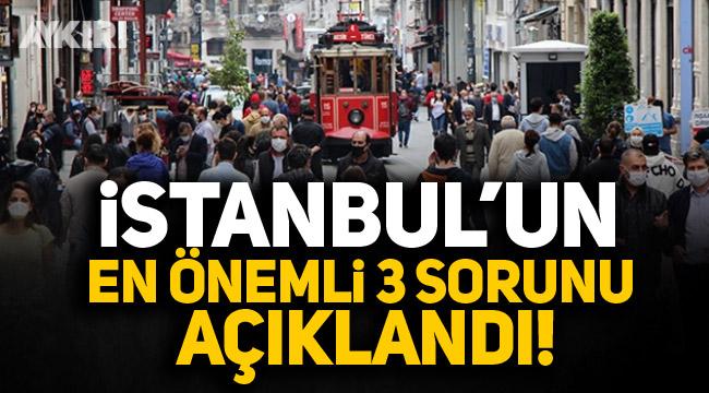 İstanbul'un en önemli 3 sorunu açıklandı!
