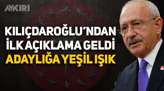 Kemal Kılıçdaroğlu Cumhurbaşkanlığı'na aday olacak mı? Kılıçdaroğlu'ndan ilk açıklama geldi