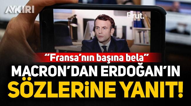 """Macron'dan kendisine """"Bela"""" diyen Erdoğan'ın sözlerine yanıt"""