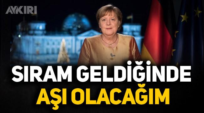 """Merkel: """"Sıram geldiğinde aşı olacağım"""""""