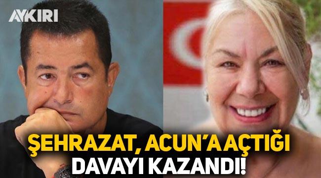 Şehrazat, Acun Medya ve TV8'e açtığı davayı kazandı