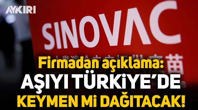 """Sinovac, koronavirüs aşısını Türkiye'de """"Keymen""""in dağıtacağını açıkladı"""