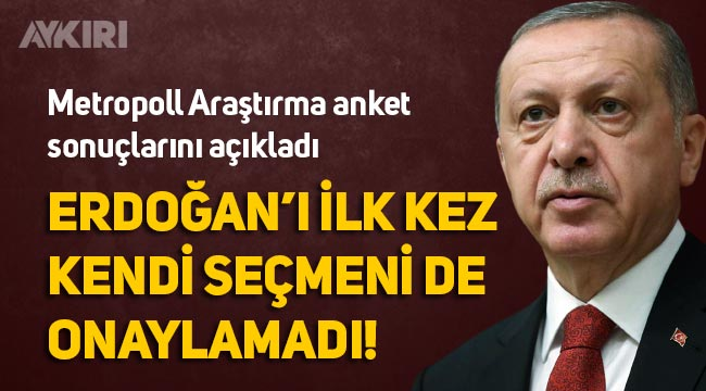 Son anket sonuçlarında Erdoğan'ın onaylanmadı