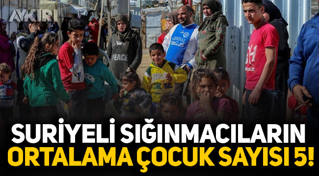 Suriyeli sığınmacıların ortalama çocuk sayısı 5!
