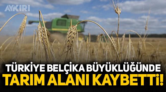 Türkiye Belçika büyüklüğünde tarım alanı kaybetti!