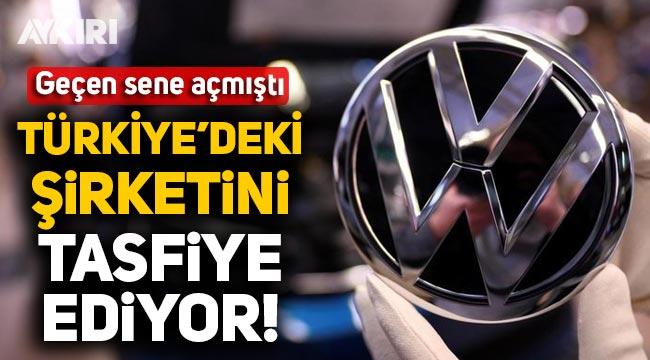Volkswagen geçen sene kurduğu Türkiye'deki şirketini kapatıyor