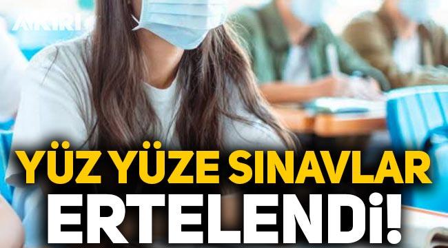 Ziya Selçuk açıkladı: Yüz yüze sınavlar ertelendi!