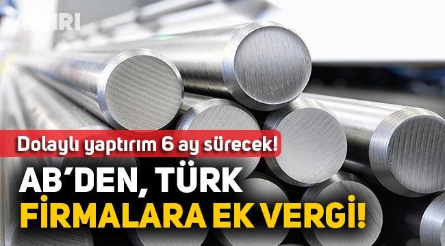 AB'den Türkiye dolaylı yaptırıım!
