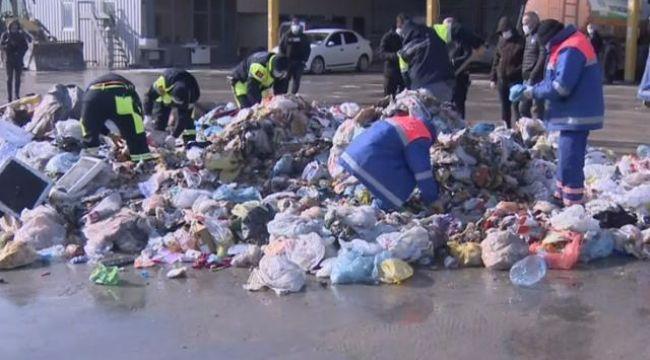 Altınları yanlışlıkla çöpe atan vatandaş ortalığı karıştırdı