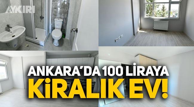 Ankara Büyükşehir Belediyesi ihtiyaç sahiplerine 100 liradan konut kiralayacak