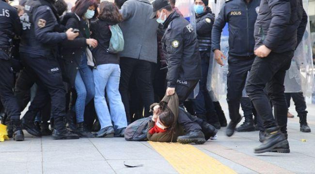 Ankara'da rektör atamasını protesto eden gruba sert müdahale