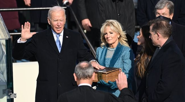 Biden, yemin ederek ABD'nin yeni başkanı oldu!