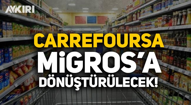 Carrefoursa'nın 34 mağazası Migros'a dönüştürülecek