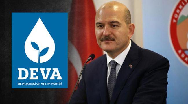 DEVA'dan İçişleri Bakanı Süleyman Soylu'ya tepki