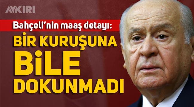 Devlet Bahçeli maaşını ve kazandığı tazminat davalarını Mehmetçik Vakfı'na bağışlıyor